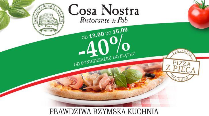 W Cosa Nostra jest jak u Babci... Wiemy lepiej, kiedy jesteś głodny:) www.cosanostra.krakow.pl