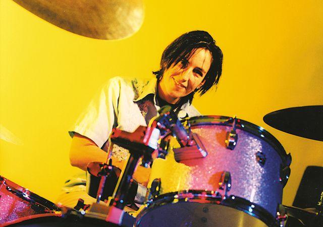Kate Schellenbach...original Beastie Boys drummer, shown here with Luscious Jackson