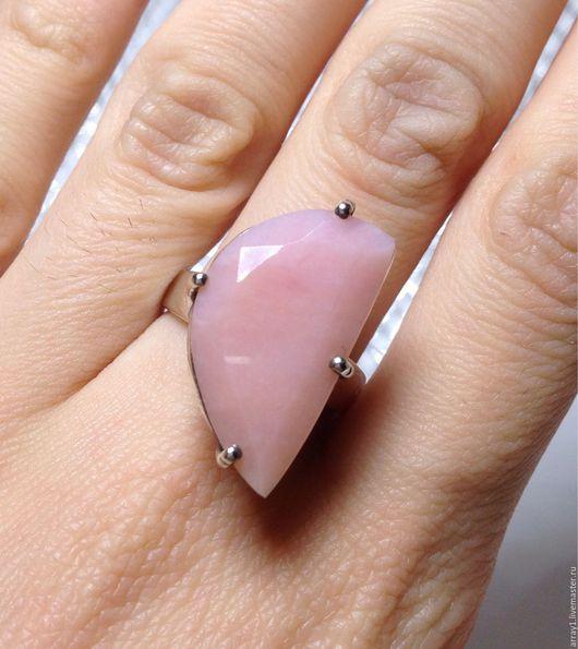 Кольца ручной работы. Ярмарка Мастеров - ручная работа. Купить Кольцо с розовым опалом. Handmade. Серебро 925 пробы