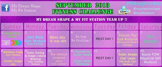 September Fitness Challenge: 30-day Workout Calendar !