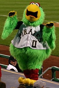 Pittsburgh Pirates Mascot - Parrot  Created by Street Characters Inc.