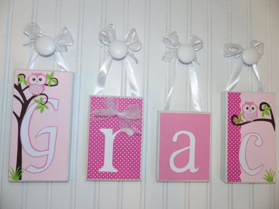 137 best taras blocks personalized name block letters home gray and pink elephant baby name block letters little girl room decor baby nursery home decor personalized baby gift custom wooden letters negle Image collections