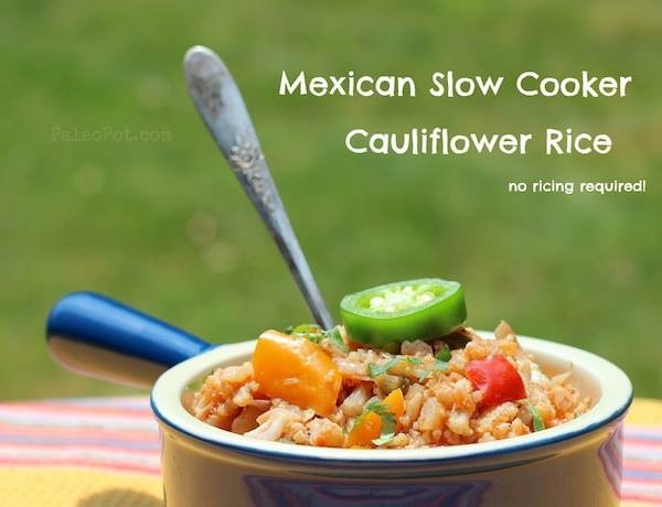 Mexican Cauliflower Rice (no ricing required)   #PaleoPot