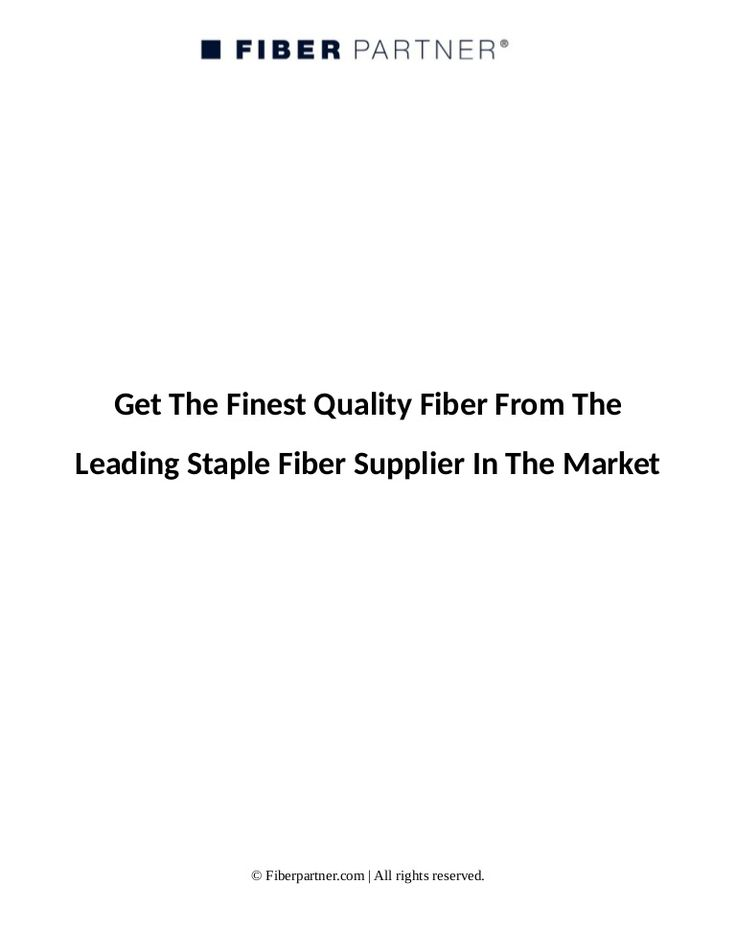 A worldwide supplier of staple fibers, yarns and plastics, Fiberpartner focuses on customer needs. We locate, manufacture and deliver the best to our clients.