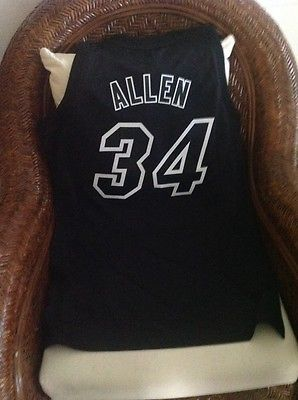 Miami Heat RAY ALLEN #34 Adidas NBA black jersey NWT Size S Lenght+2 Mens