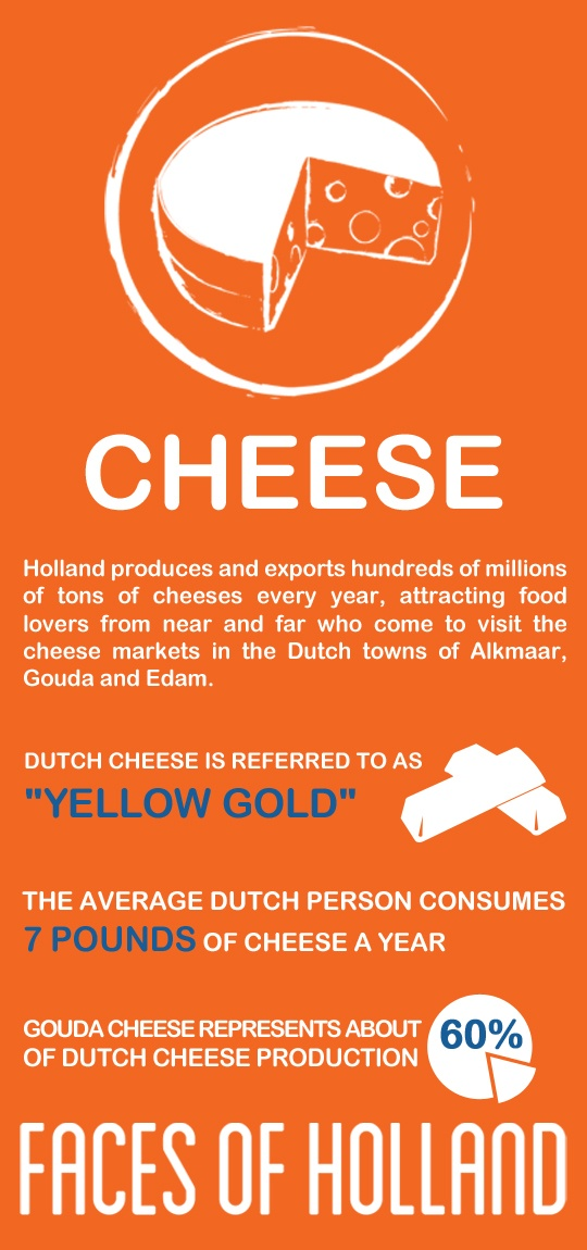 "Meet the cheese, one of the six Faces of Holland and get a taste of the ""yellow gold"": http://www.holland.com/us/Tourism/Interests/faces-of-holland/cheese-2.htm"