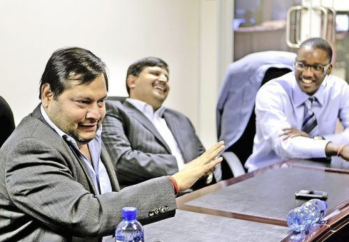 Home affairs to brief parliament on Guptas' naturalisation  Indian businessmen Ajay and Atul Gupta, and Duduzane Zuma in 2011. Picture: Gallo Images