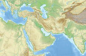 carte: Géographie du Moyen-Orient