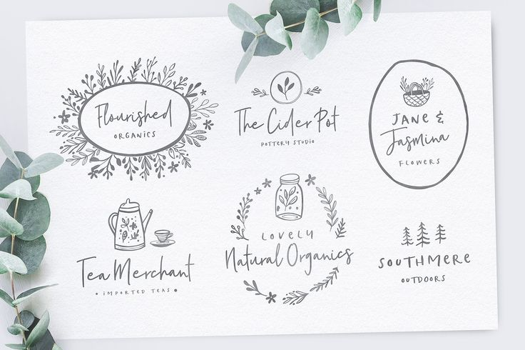 Poppit & Finch Fonts & Illustrations by Nicky Laatz on @creativemarket