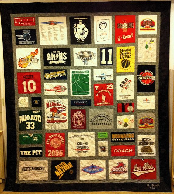 Custom T-Shirt Quilt for Scott.jpg by Patchwork Memories, via Flickr