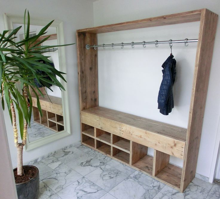 I could make this a little smaller and put it in the entryway from the garage. Maybe all the shoes, coats, backpacks, etc. can actually get organized!