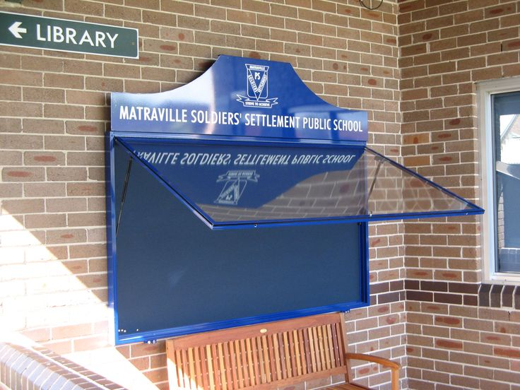 Matraville Soldiers School #noticeboard #clear #glass #public #message #board #CSI #sign #signage #communication