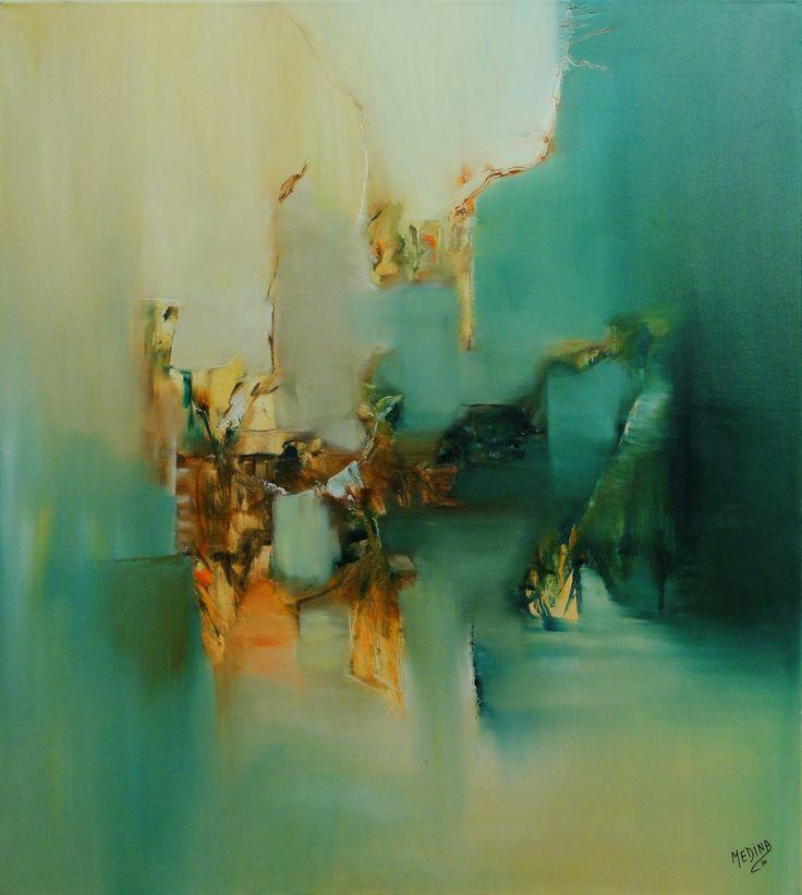"""""""Atrapado en el pasado"""" - Monica Medina - Oleo sobre tela - - 100 x 90 cm  www.esencialismo.com"""