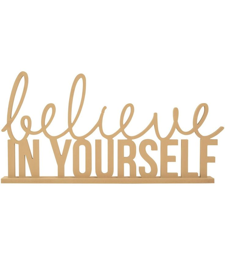 Kaisercraft Beyond The Page MDF Phrase-Believe In Yourself