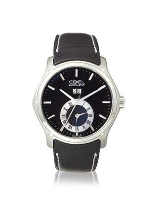 67% OFF Ebel Men's 1215808 Classic Black Calfskin Watch