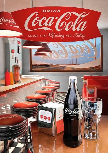 The soda #CocaCola and your old great publicity ... !!! ;-)