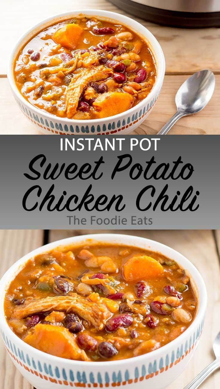 Instant Pot Sweet Potato Chicken Chili