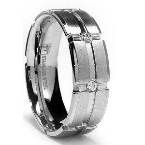 cz mens wedding ring diamond