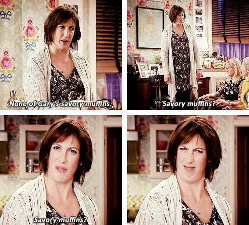 Savoury muffins are straight-up evil. And i stand by this statment | 18 Times Miranda Hart Spoke the absolute truth