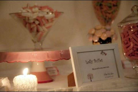 Pretty pink lolly buffet styling by @Seasons Warner Pink Celebrations