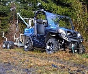 Utility vehicle with full screen fitted. The 550 and the 800 tracker utility vehicles can have an optional full screen fitted if required. For more information or a quotation, please visit http://www.fresh-group.com/utility-vehicle.html or call us on 0845 3731 832