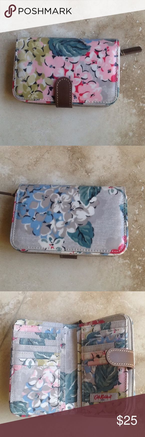 Cath Kidston wallet            NWOT New without tickets... Measures about 6 by 4. Zipper compartment. Cath Kidston Bags Wallets