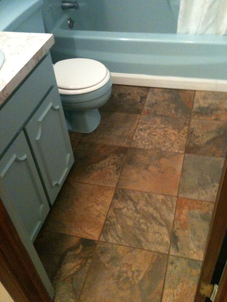 13x13 smooth slate tile we installed in a friends bathroom ...