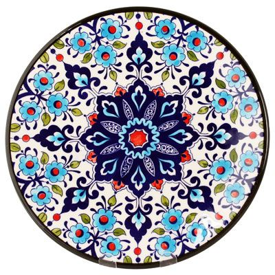 Decorative Hand Painted Plate CER-DAMASCO1-27