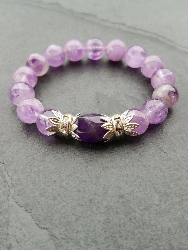 Amethyst Bracelet Meaning, Amethyst silver jewellery - Luzjewelrydesign   - 1