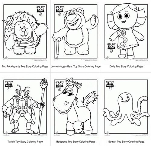 For a fun Toy Story Birthday Party Cctivity, print some Toy Story 3 coloring pages