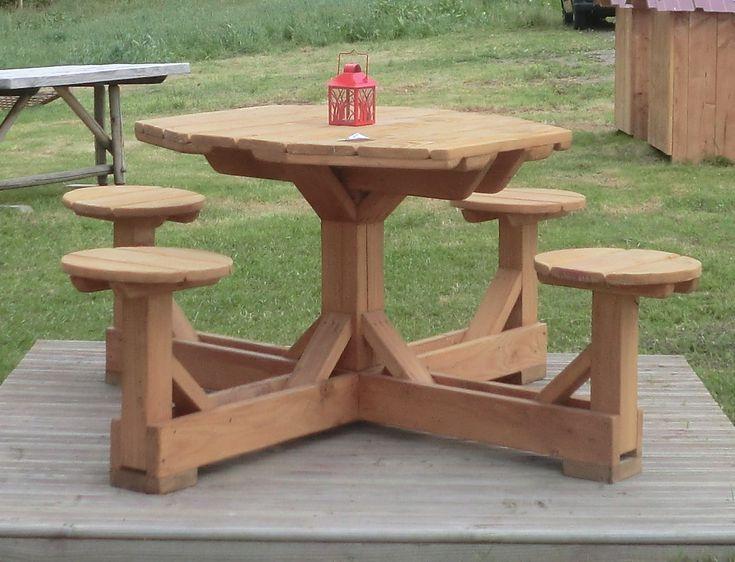 tables de jardin en bois : Scierie Blondy