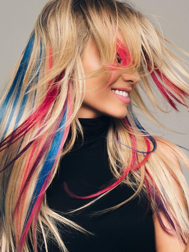 цветные пряди волос фото на русые волосы подобные слайдеры
