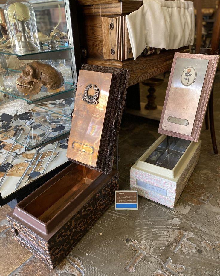 Salesman sample burial vaults stands included 200 ea