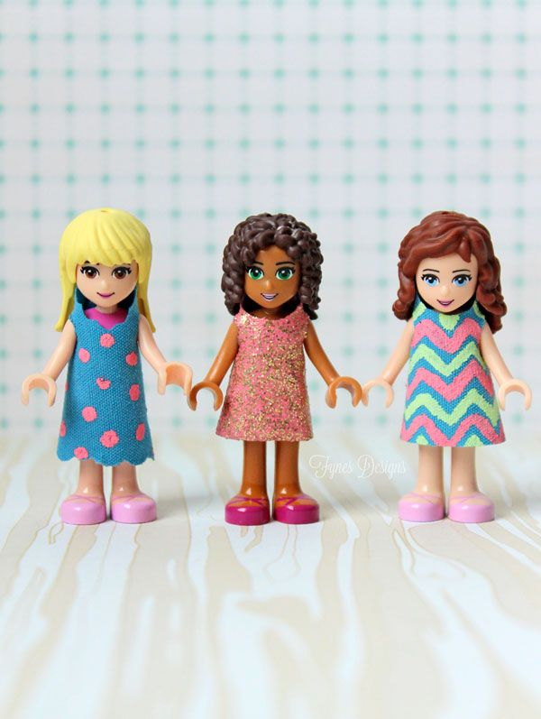Lego Friends Dresses Free Template - FYNES DESIGNS