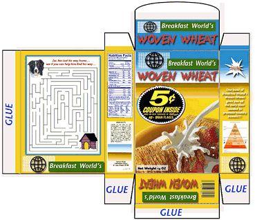Cereal Box para las muñecas: Artesanía de Noni
