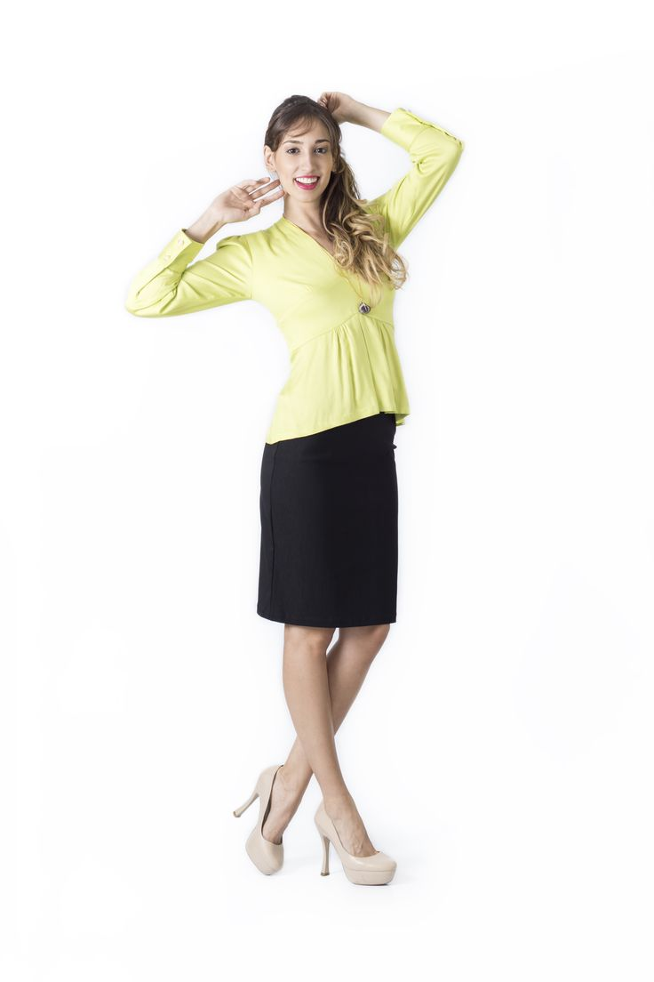 Bosque Paraíso Collection REF: BLOUSE BL0011, SKIRT: FA0005  SIZE: XS-1W Material blouse:Viscose/100, Material skirt: Drill- rayon viscose/polyamide /spandex 77/20/3 Colors Blouse: Pistachio green, red,Ivory,black,mint. Colors Skirt: black, white,red,green jade.