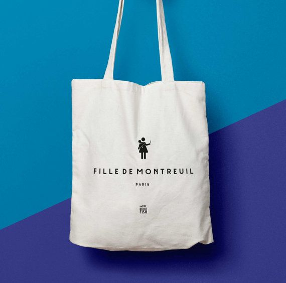 Sac Fille de Montreuil Paris sac cabas Tote