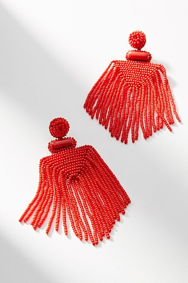 Deepa Gurnani Lima Beaded Drop Earrings O7MRsxRYp9