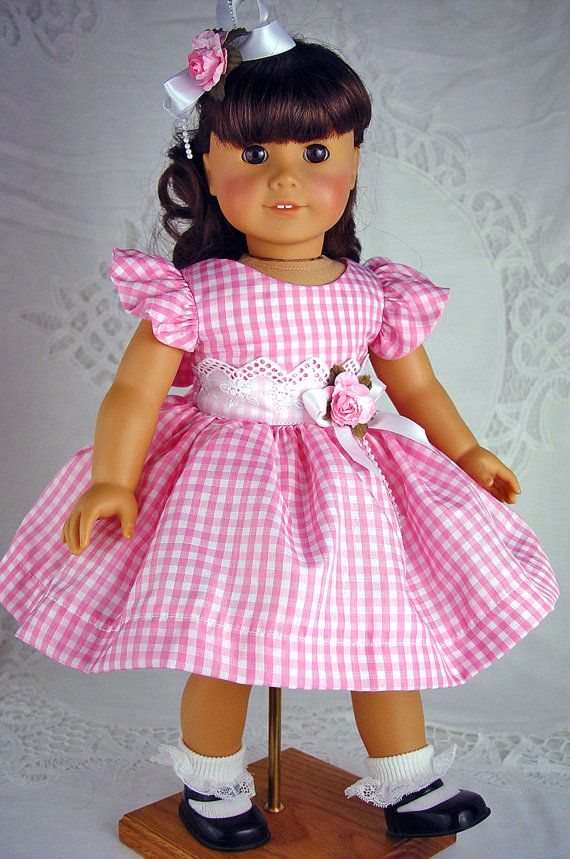 American Girl Dress. 18 doll clothes. American Girl clothes. A great little Spring/Summer Dress--perfect for special occasion--maybe a Garden Party:)