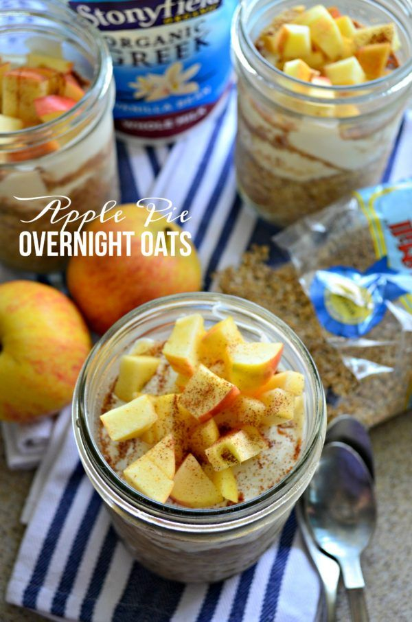 apple pie overnight oats steel cut oats yogurt recipes overnight oats ...