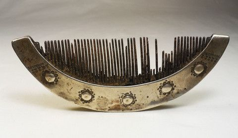 Atoni comb - silver and water buffalo horn - West Timor