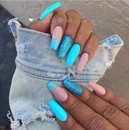67 Trendy nagels blauw design aqua