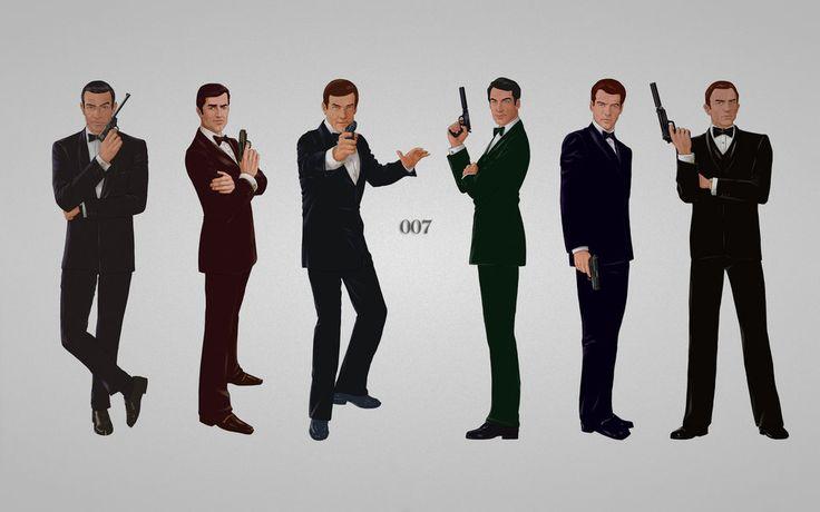 James bond, bond de james, canons, costumes, six, connery sean, george lazenby, roger george moore Wallpaper - ForWallpaper.com