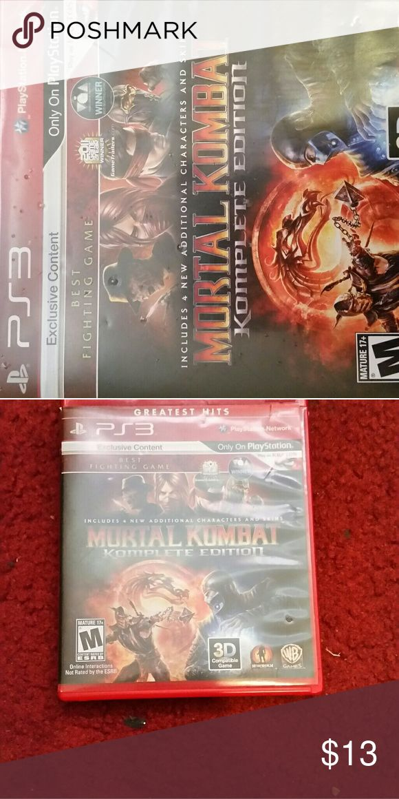 Mortal Kombat This game is ONLY for Play Station. ( KOMPLETE EDITION ) mortal Kombat Other