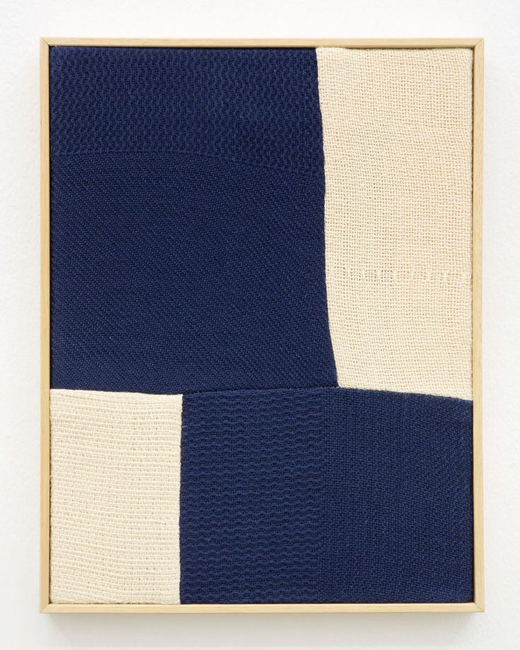 Ethan Cook: Untitled, 2012 woven cotton canvas, artist's frame 23x32 cm