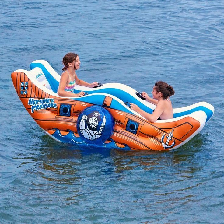 Aviva Neptuneu0027s Treasure Inflatable Water Float Multicolor