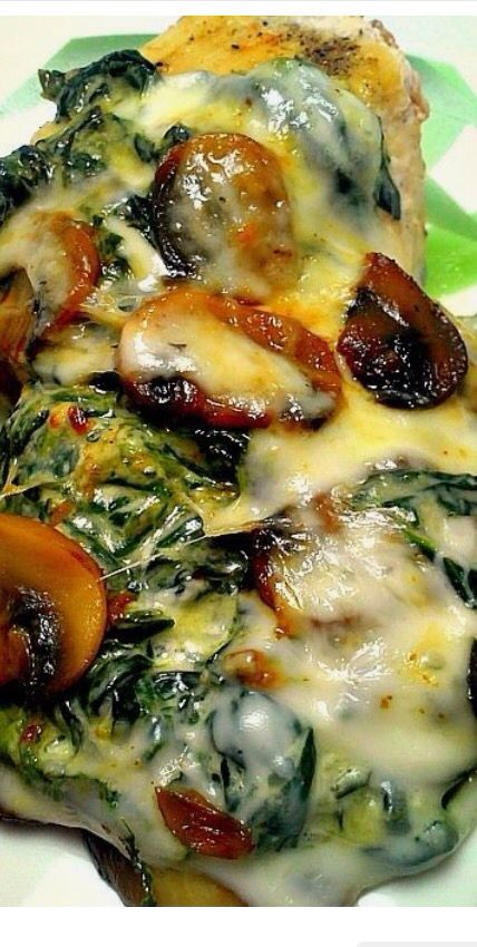 Low carb spinach and mushroom chicken