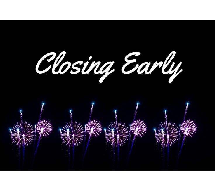 Planning on coming down to the range? Don't wait too late, Sarasota and Venice will be closing at 5pm on Christmas Eve and New Years Eve