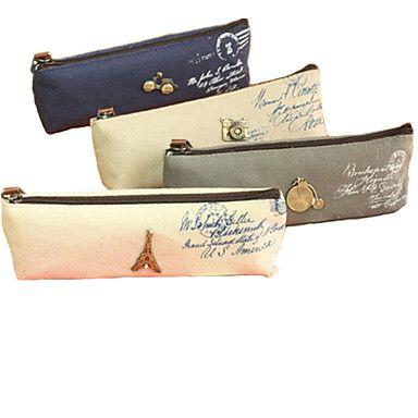 EUR € 3.77 - Vintage elemento têxtil Bolsa Pen Zipper (cor aleatória), Frete Grátis em Todos os Gadgets!