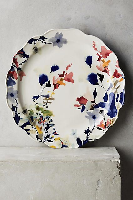 Wildflower Study Dinner Plate - anthropologie.com, it's a dish, no a painting, no a dish, no... Art-ish